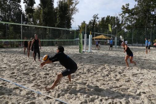 Am Mur Beach in Graz fand die 10. Volleyball-Betriebsmeisterschaft statt. © Betriebssport AK-ÖGB, AK Stmk