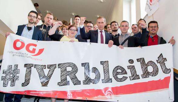 Gegen die Abschaffung der Jugendvertrauensräte und gegen die Auflösung der AUVA. © Graf-Putz, AK Stmk