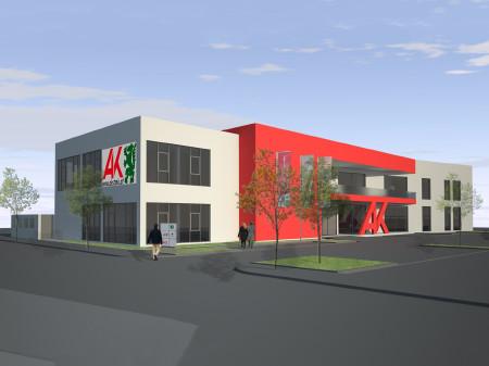 So Soll das neue Gebäude der AK-Außenstelle Feldbach aussehen. © AK Stmk, AK Stmk