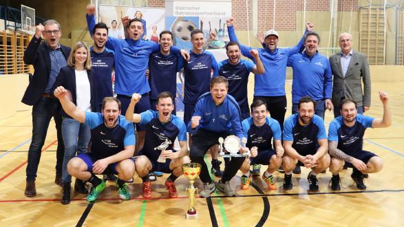 Böhler Edelstahlt holte sich den Sieg bei den 32. Hallenfußballlandesmeisterschaften. © Betriebssport, AK Stmk
