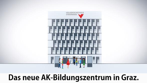 Neues AK Bildungszentrum in Graz. © -, AK Stmk