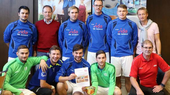 Im letzten Spiel konnte sich das Team der ÖBB TS Knittelfeld ganz oben aufs Stockerl spielen. © AK ÖGB Betriebssport, AK Stmk