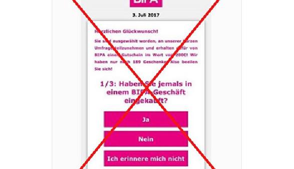 BIPA warnt auf Facebook vor Betrug. © BIPA, BIPA