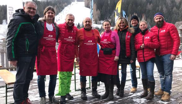 Das AK-Team am zweiten Skitag 2020 am Salzstiegl. © Pollauf, AK Stmk