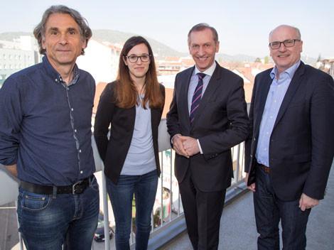 Dr. Egger, Wolff, MA, Präsident Pesserl, Direktor Dr. Bartosch © Graf, AK Stmk