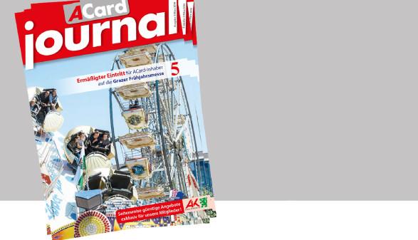 Das neue ACard-Journal im März mit viele Angeboten und Gewinnspielen. © -, AK Stmk