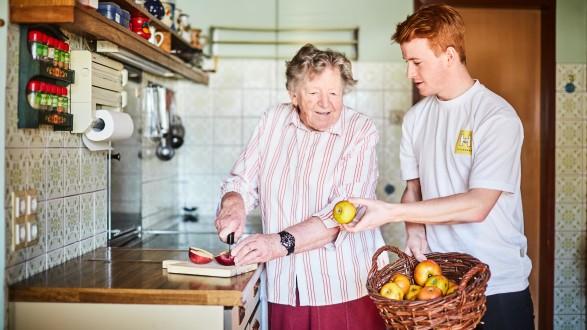 Gerade für Personen mit einem nicht so hohen Pflegebedarf eignet sich die Pflege daheim besonders gut. © Presse & Foto Franz Gleiß, AK Stmk