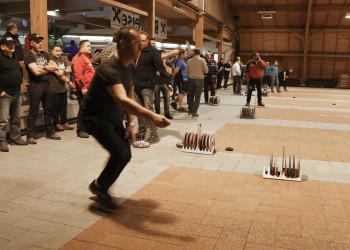 13 Teams nahmen bei der 29. Stocksport-Betriebsmeisterschaft in der Sulmtalhalle teil. © AK Stmk