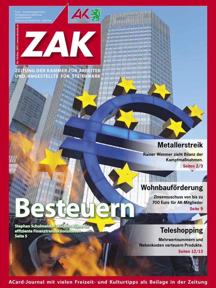 Deckblatt der ZAK im Dezember 2012 © -, AK Stmk