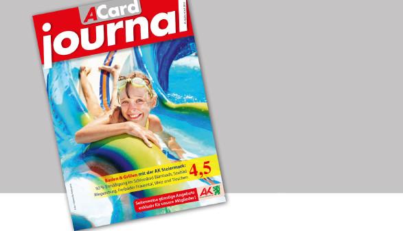 Ermäßigungen & Gewinnspiele im ACard-Journal im Juni 2019. © -, AK Stmk