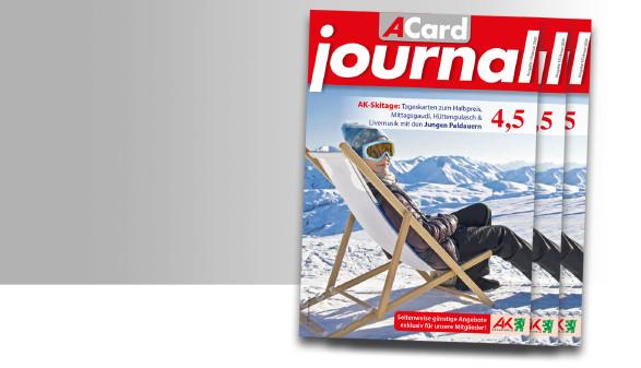 Rabatte und Vorteile im neuen ACard-Journal im Jänner 2020. © -, AK Stmk