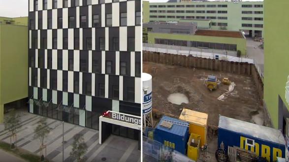 In nur 17 Monaten wurde das neue Gebäude der VHS in Graz gebaut. © -, AK Stmk