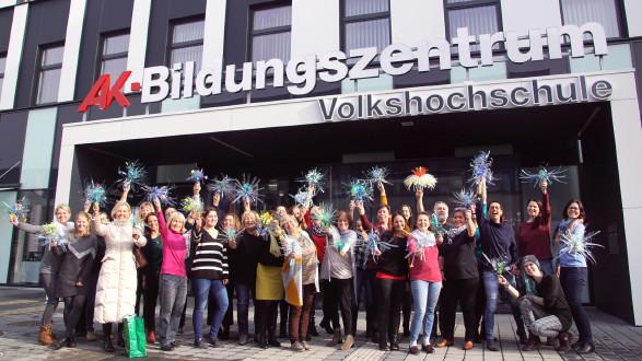 """Ein gelungener Workshop mit """"Flowers of Change"""" in der VHS Graz. © Klanglicht, AK Stmk"""
