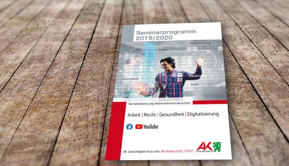 Das neue Seminarprogramm 2019/20 von Arbeit, Recht, Gesundheit und Digitalisierung ist da © freepik, AK Stmk