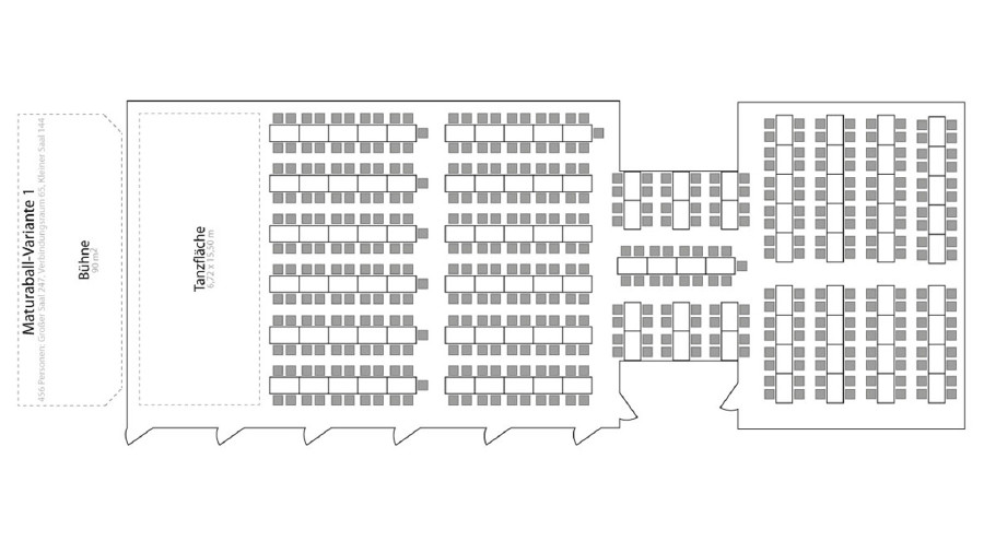 Variante für 456 Personen im Kammersaal © -, AK Stmk