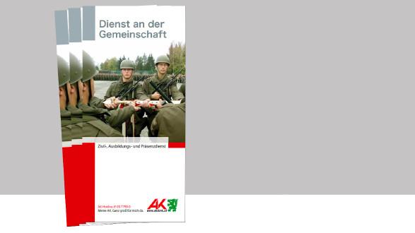 AK-Broschüre über Zivil-, Ausbildungs- und Präsenzdienst. © -, AK Stmk