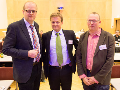 Alexander Gratzer (AK), Michael Koren und Bernd Leinich © Buchsteiner, AK Stmk