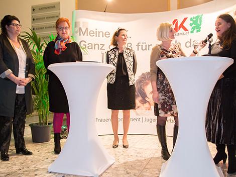 Helga Ahrer, Elisabeth Aufreiter, Bettina Vollath, Ilse Amenitsch und Patricia Berger v.l. © Graf, AK Stmk