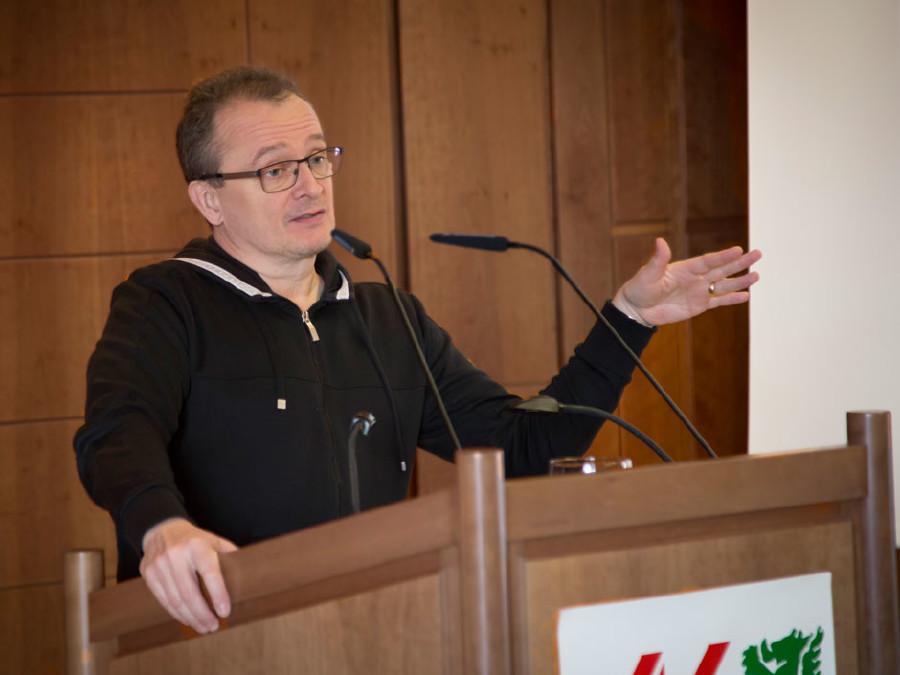 Bernhard Heinzlmaier präsentierte seine Lehrlingsstudie © Graf, AK Stmk