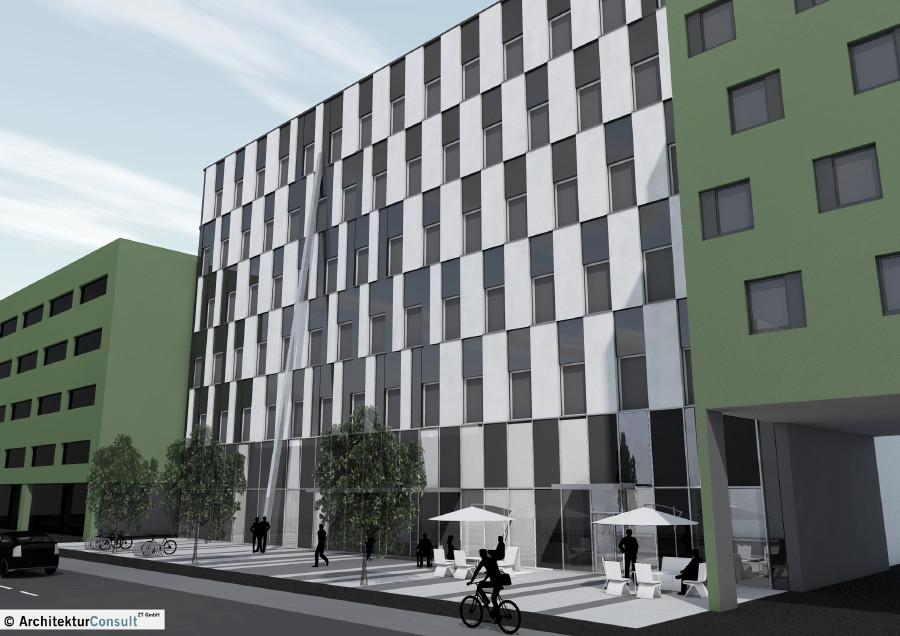 Das geplante VHS Gebäude in der Köflachergasse 7 in Graz. © Architektur Consult ZT GmbH, AK Stmk