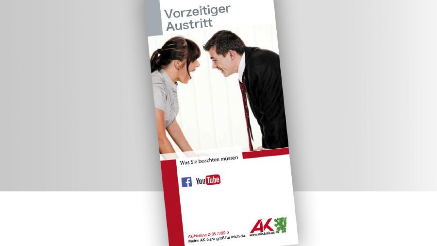 Broschüre Titelbild Vorzeitiger Austritt © -, -