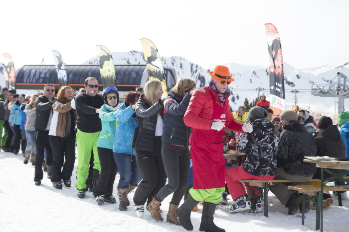 Gute Stimmung am letzten 2019 AK-Skitag auf der Riesneralm. © Temel, AK Stmk