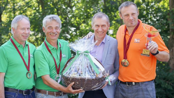 Hannes Allabauer, Robert Lehrer und Bernd Zoglmeier (v.l.n.r.), holten den Europameistertitel in die Steiermark.  © Graf-Putz, AK Stmk