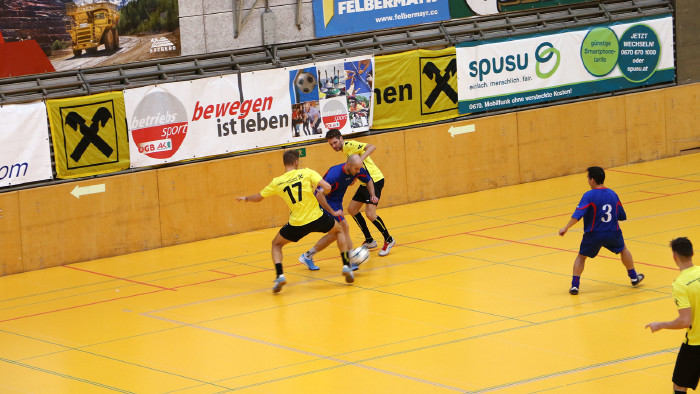 Je fünf Teams kämpften um insgesamt vier Tickets für das Finale. © Betriebssport, AK Stmk