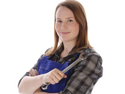 Glücklicher Lehrling - Sie weiß genau wie lange Sie täglich arbeiten muss! © runzelkorn, Fotolia.com