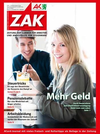 Titelseite ZAK Februar 2016 © Kanizaj, AK Stmk