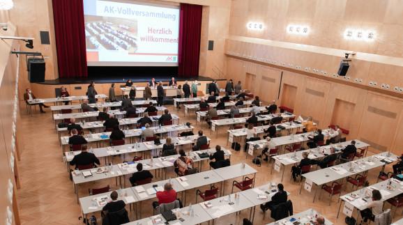 Die 3. AK-Vollversammlung stand ganz im Zeichen der Gesundheits- und Wirtschaftskrise. © Temel, AK Stmk
