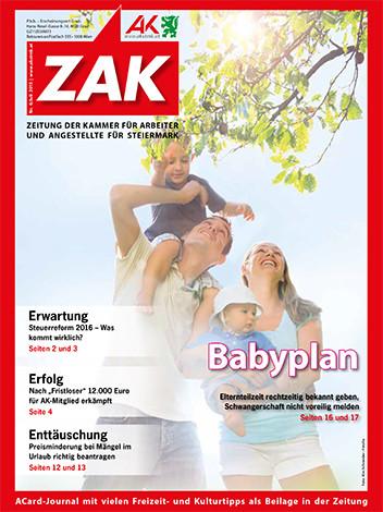 Deckblatt der ZAK Juli 2015 © -, AK Stmk