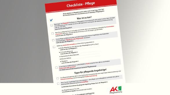 Checkliste - Pflege © -, AK Stmk