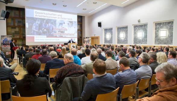 """Jeder Platz war bei der Diksussion """"Zukunft der AK"""" besetzt. © Graf-Putz, AK Stmk"""