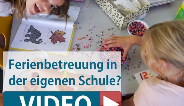 In der Volksschule Liebenau werden die Kinder auch in den ersten drei Ferienwochen betreut. © -, AK Stmk