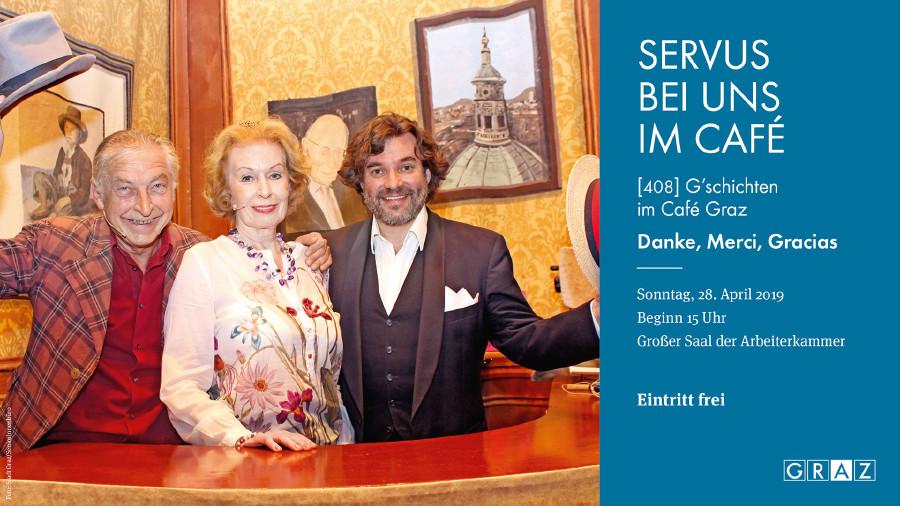 Café Graz am 28. April ab 15 Uhr in den Grazer Kammersälen. © Café Graz, AK Stmk