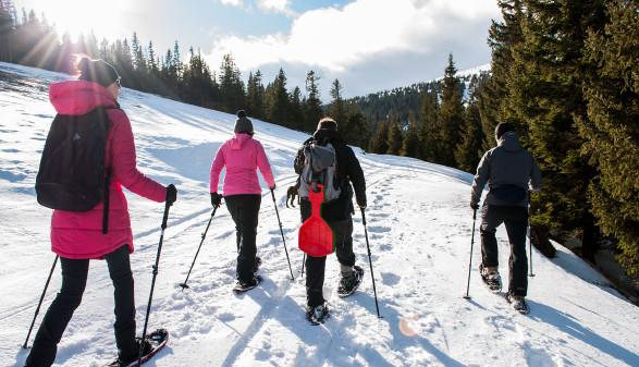 Schneeschuhwandern rund um Graz von Dezember bis März 2019. © Judith Fuchs, AK Stmk