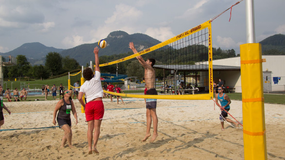 9. Beachvolleyball-Betriebsmeisterschaft in Frohnleiten. © Betriebssport, AK Stmk