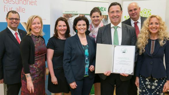 Die AK Steiermark ist für die Betriebliche Gesundheitsförderung ausgezeichnet worden. © STGKK/Manninger, AK Stmk