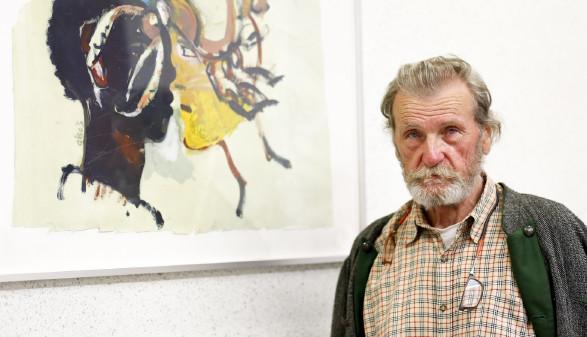 Gerald Brettschuh vor seinem LIeblingsbild © Graf-Putz, AK