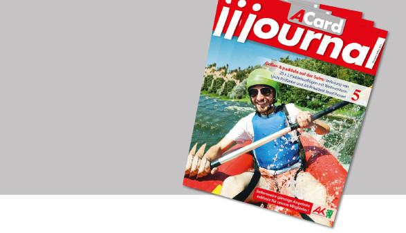 Das ACard-Journal im Mai mit vielen Angeboten und Vergünstigungen. © -, AK Stmk