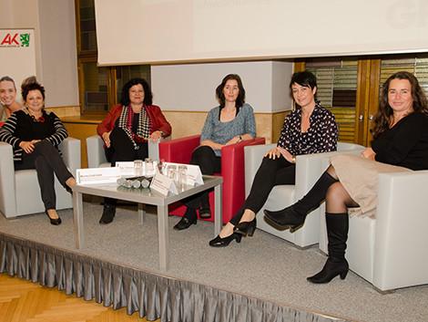 Monika Fliesser (Lebenshlfe), Christina Lind (AMS), Gerlinde Pölsler (Falter), Vizebgm. Martina Schröck und AK-Vizepräsidentin Patricia Berger © Fotostudio 44, AK Stmk