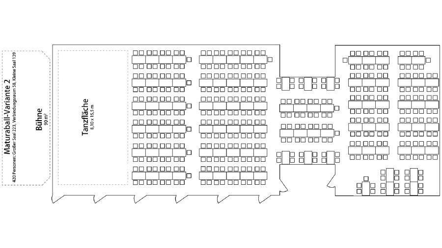 Variante für 420 Personen im Kammersaal © -, AK Stmk