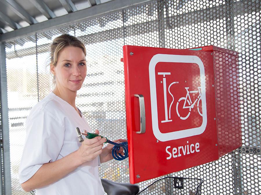 Am Gelände des LKH Graz stehen zwei Self-Service-Boxen zur Verfügung. © Graf, AK Stmk