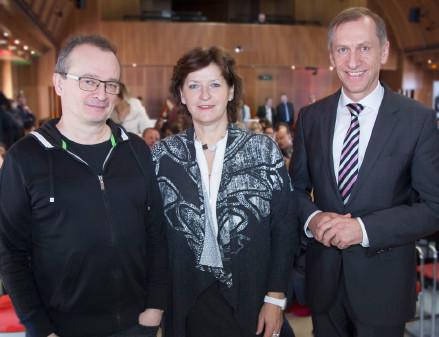 Jugendforscher Bernhard Heinzlmaier, Bildungsladesrätin Ursula Lackner und AK-Präsident Josef Pesserl © Graf, AK Stmk