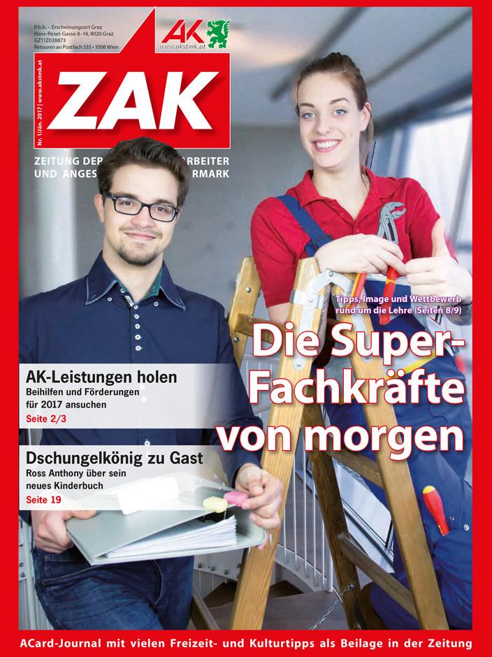 Deckblatt der ZAK im Jänner 2017 © -, AK Stmk