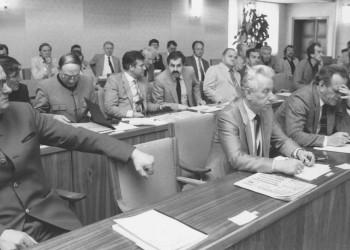 Vollversammlung, Jahr unbekannt, geschätzt: Ära Franz Ileschitz (1975-1987). © AK Stmk, AK Stmk