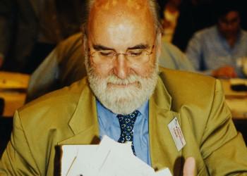 Dr. Peter Kiesswetter (ehem. Leiter AK-Konsumentenschutz) bei der AK-Wahl. © Sammlung Paier, AK Stmk