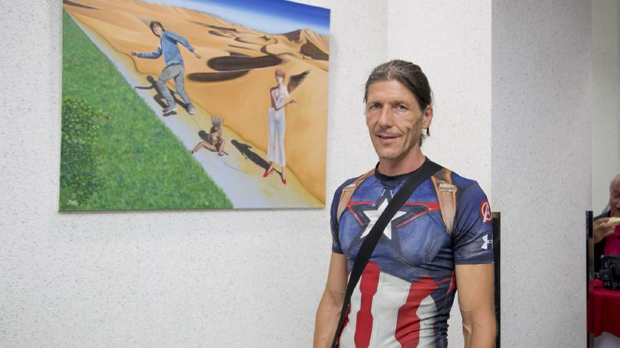 Axel Kirchmayr bei der Eröffnung der Ausstellung © Graf-Putz, AK