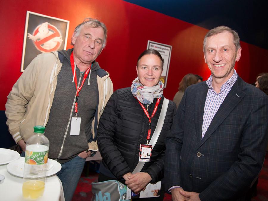 AK-Präsident Josef Pesserl (rechts) unterhielt sich mit den Besuchern © Graf, AK Stmk